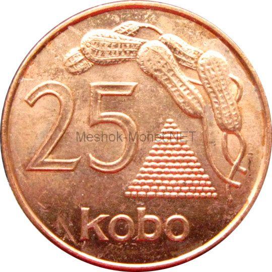 Нигерия 25 кобо 1991 г.