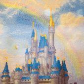 Схема для вышивки крестом Сказочный замок. Отшив.