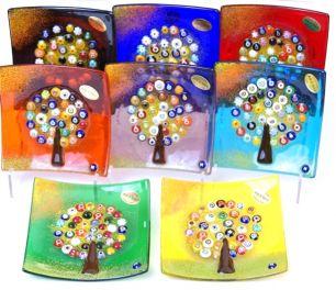 Блюдо Дерево счастья и удачи 12х12 см муранское стекло