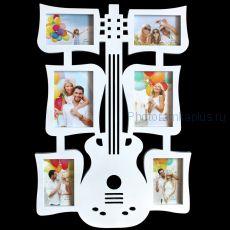"Мультирамка ""Гитара"" на 6 фото М21"