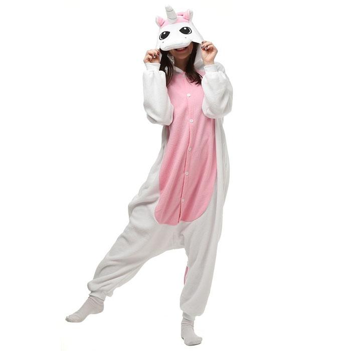 Пижама Кигуруми Единорог Розовый Премиум