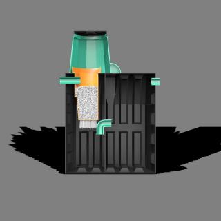 Локальная очистная установка «ТЕРМИТ-ПРОФИ-2Ф» 2 м3(рассчитан на 4-5 проживающих человек)