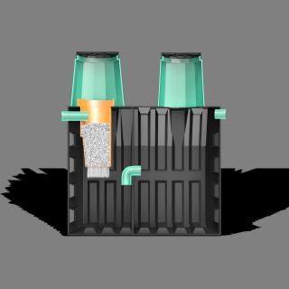 Локальная очистная установка «ТЕРМИТ-ПРОФИ-2.5Ф» 2.5 м3(рассчитан на 5-6 проживающих человек)
