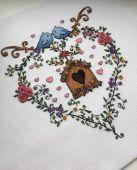 Схема для вышивки крестом Семейный очаг. Отшив.
