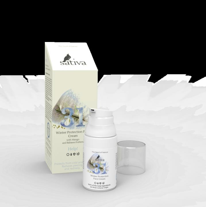 Крем для лица Sativa защитный зимний № 31, 30мл
