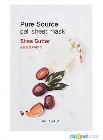 Missha Pure Source Cell Sheet Mask (Shea Butter) 21g - Интенсивная питательная для лица