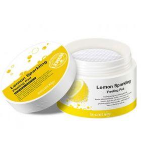Secret Key Lemon Sparkling Peeling Pad 125ml, 70шт - диски для пилинга с экстрактом лимона
