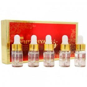 Deoproce Whee Hyang Whitening & Anti-Wrinkle Ampoule Set 10ml*5 - осветляющая антивозрастная сыворотка с экстрактом корня женьшеня