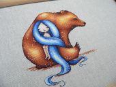 Схема для вышивки крестом Маленькие нимфы - Калисто. Отшив.