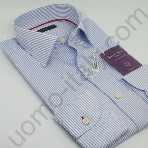 Мужская рубашка Giovanni Rosmini в голубую полоску( 436S )