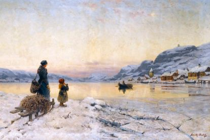 Смит-Халд, Фритхоф - Норвежский зимний день у фьорда
