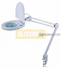 Лампа лупа на струбцине круглая настольная 8Х с подсветкой с крышкой, белая REXANT