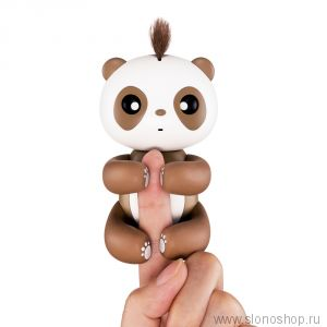Интерактивная панда повторюшка Fingerlings зарядка от usb