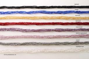 Ожерелье венецианский бисер 6-рядный рубка