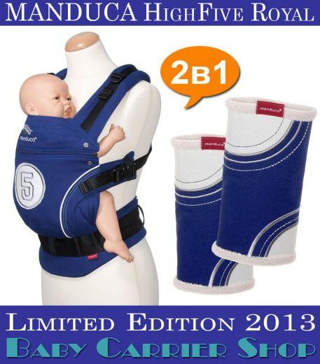 Комплект 2в1 MANDUCA LimitedEditions HighFive Royal «Слинг-рюкзак Baby Carrier + Накладки на ремни Fumbee» [Мандука набор эргорюкзак+накладки Королевский Синий]