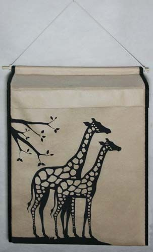 """Подвесная коробка  """"Жирафы"""", 44*34*12 см"""