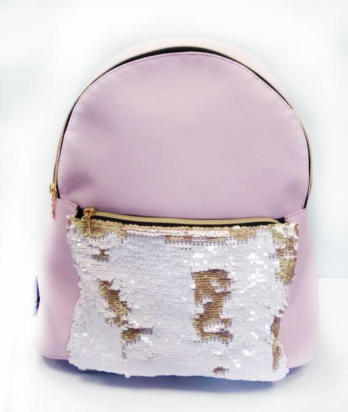 Рюкзак розовый со вставкой