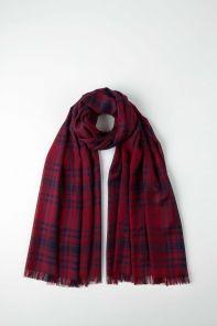 легкий тонкорунный экстра широкий шарф, тартан Кайл,EXTRA FINE MERINO KYLE  Tartan 100% шерсть мериноса,   плотность 2