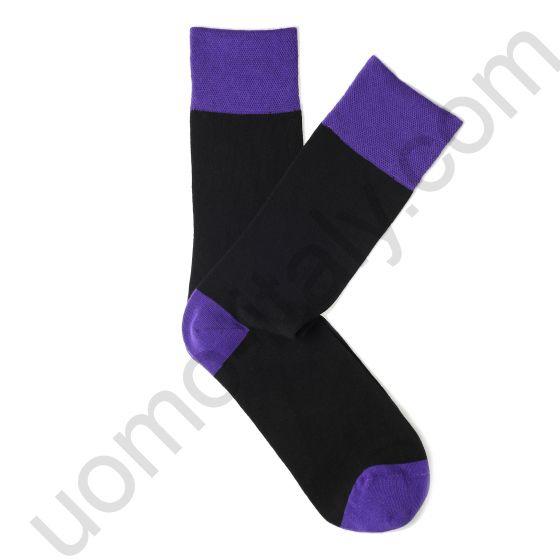 Носки Tezido синие с сиреневой резинкой, пяткой и мыском