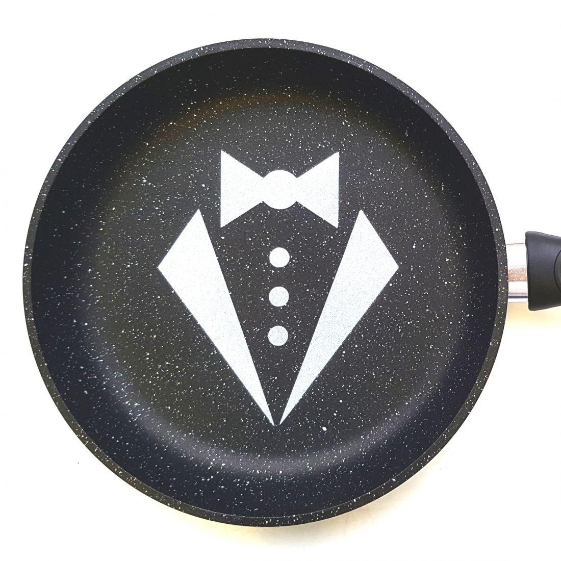 Сковорода 24 см. с логотипом Смокинг