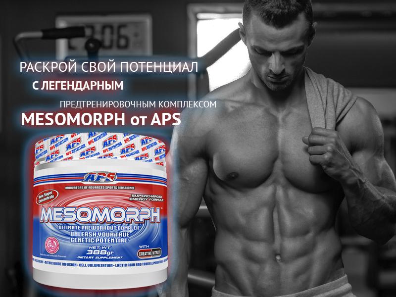 Предтренировочный комплекс MESOMORPH (APS Nutrition) 388г 25п