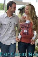 Слинг-рюкзак ERGO Baby CARRIER Эргономичный детский рюкзачок-переноска для малышей «ORGANIC FASHION COLLECTION Twill Sienna Sunset» [Эрго BC14TOSS терракот с полосками]