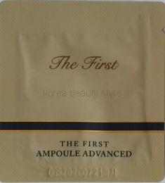 O HUI THE FIRST  AMPOULE ADVANCED (1 мл)  пробник-саше  - Концентрированная ампульная  антивозрастная сыворотка со стволовыми клетками.