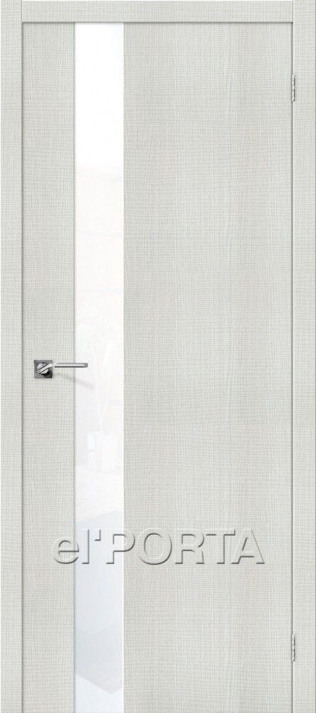 Межкомнатная дверь ПОРТА-51 BIANCO CROSSCUT