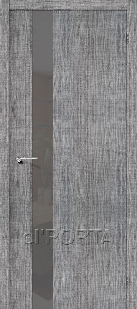 Межкомнатная дверь ПОРТА-51 GREY CROSSCUT