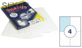 73566 Этикетки самоклеящиеся MEGA LABEL 105х148 мм / 4 шт. на листе А 4 (100 листов в пачке)