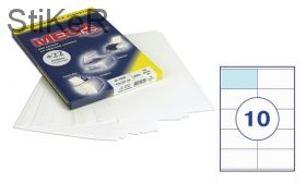 73622 Этикетки самоклеящиеся MEGA LABEL 105х57 мм / 10 шт. на листе А 4 (100 листов в пачке)