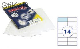 73623 Этикетки самоклеящиеся MEGA LABEL 105х42,4 мм / 14 шт. на листе А 4 (100 листов в пачке)