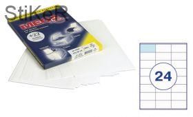 73634 Этикетки самоклеящиеся MEGA LABEL 70х36 мм / 24 шт. на листе А 4 (100 листов в пачке)