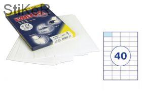 73643 Этикетки самоклеящиеся MEGA LABEL 52,5х29,7 мм / 40 шт. на листе А 4 (100 листов в пачке)