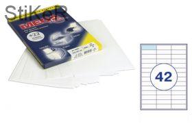 73640 Этикетки самоклеящиеся MEGA LABEL 67х20,5 мм / 42 шт. на листе А 4 (100 листов в пачке)