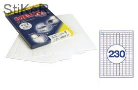 73582 Этикетки самоклеящиеся MEGA LABEL 18х12 мм / 230шт. на листе   А 4 (100 листов в пачке)