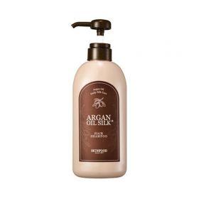 SKINFOOD Argan Oil Silk Plus Shampoo 500ml - Шампунь для волос с аргановым маслом