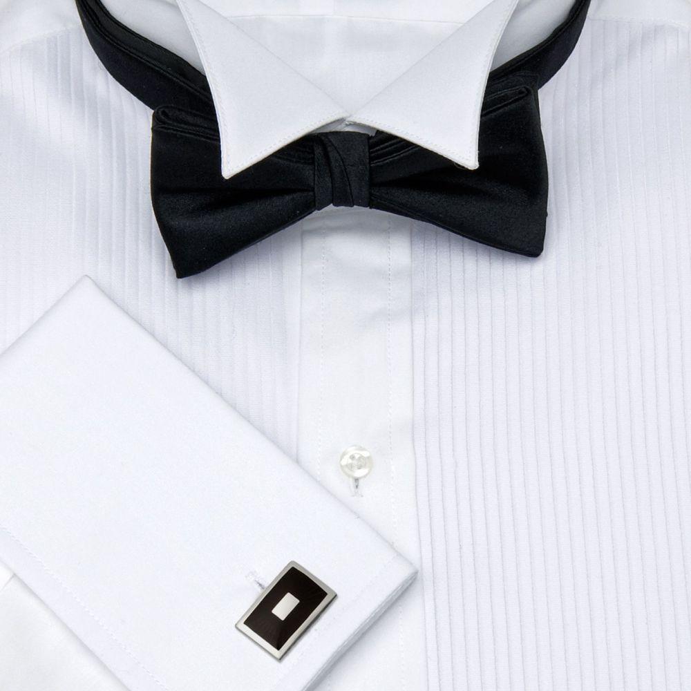 e0140566506981a Рубашка мужская под бабочку, под смокинг белая T.M.Lewin приталенная Slim  Fit
