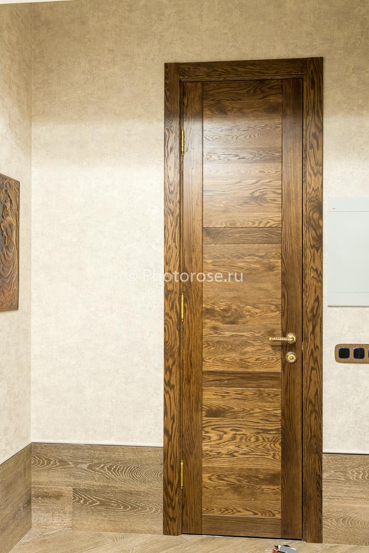 Двери межкомнатные из массива белого ясеня