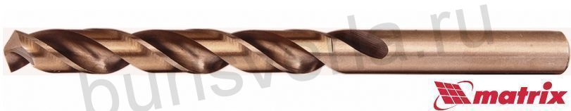 Сверло по металлу 6 мм Matrix, HSS-Co-5%