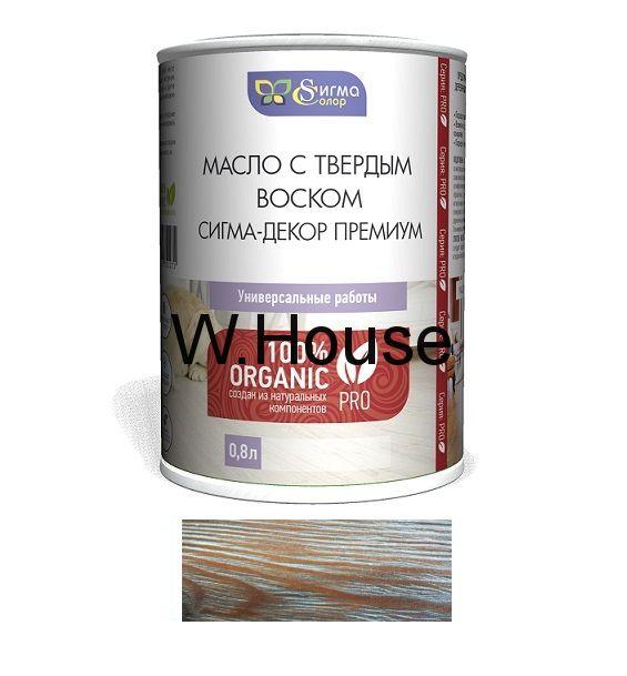"""Масло для дерева, серебро, перламутр, с твердым воском, """"Сигма-Декор Премиум"""", 0.5 л"""