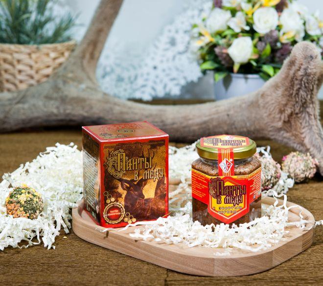 Панты в меду с золотым корнем 230 грамм