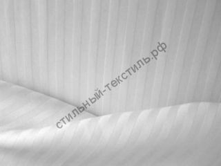 Сатин-страйп полоса 1 см (белый)