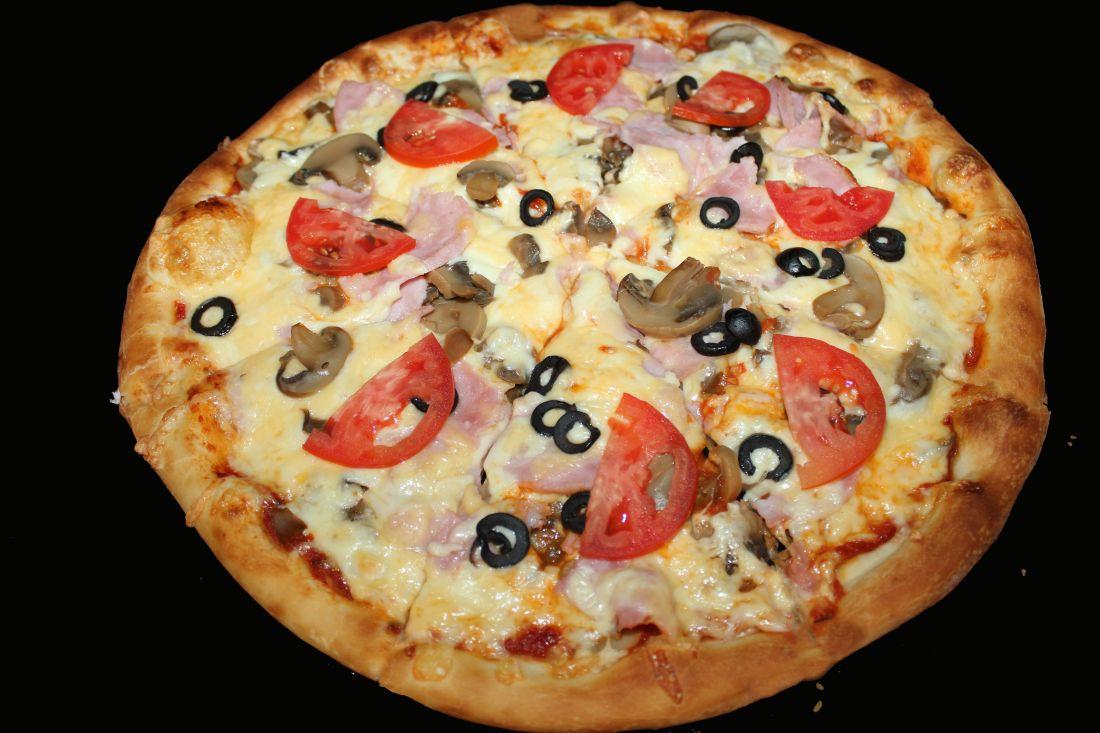 Пицца грибная с ветчиной (900гр.)
