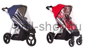 Дождевик для коляски Phil and Teds Verve для 1 ребенка