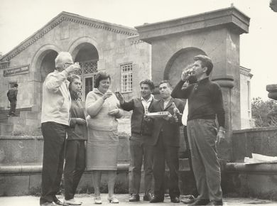 А. Арутюнян, Д. Б. Кабалевский, Э. Мирзоян и др., Дилижан, Армения (1967 г.)