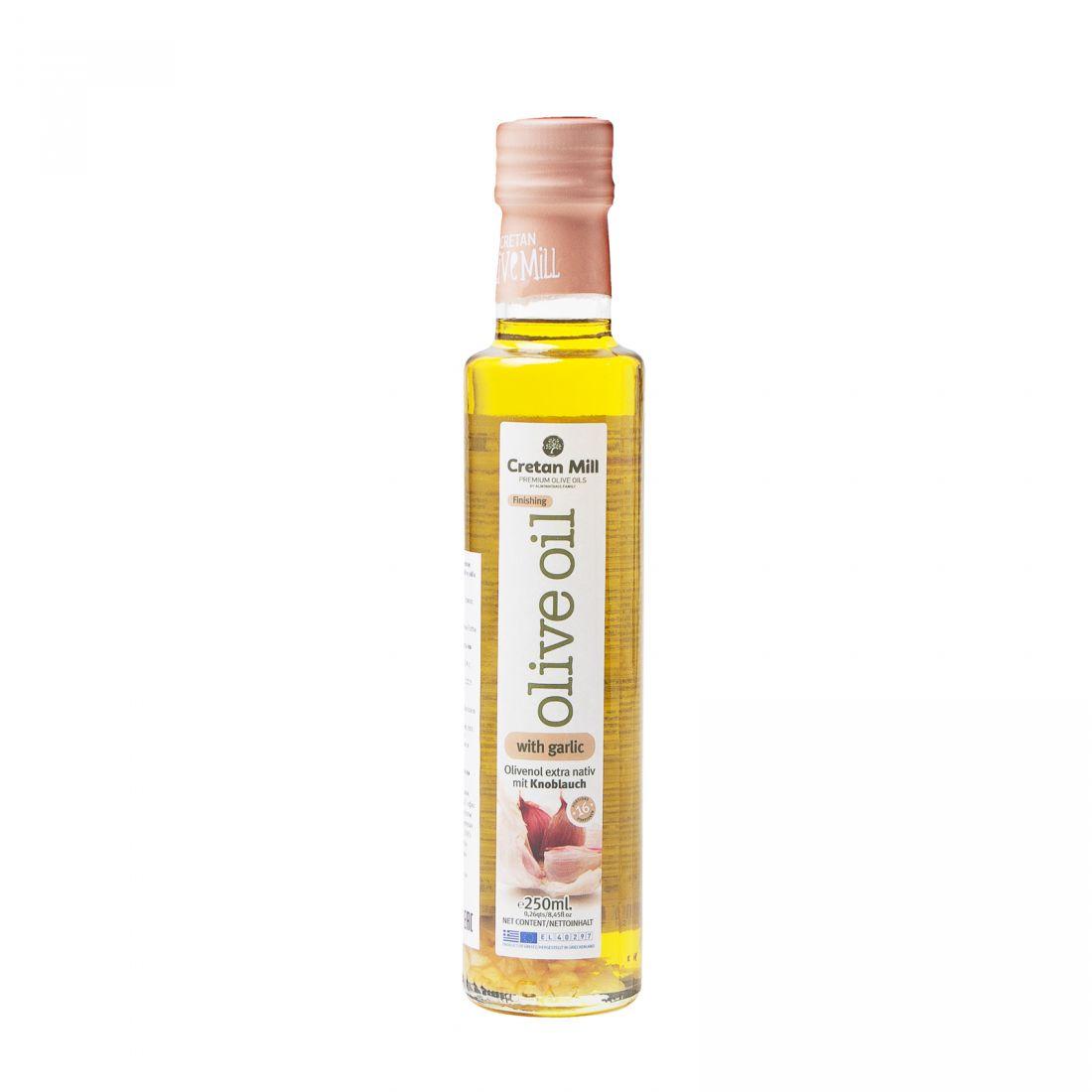 Оливковое масло с чесноком CRETAN MILL  - 250 мл экстра вирджин