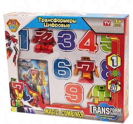 Набор трансботы боевой расчет - цифры трансформеры.