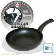 Сковорода TVS Titan Granit INDUCTION 24см с титано-керамическим покрытием, Италия IT-1124