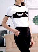 футболка с ресницами